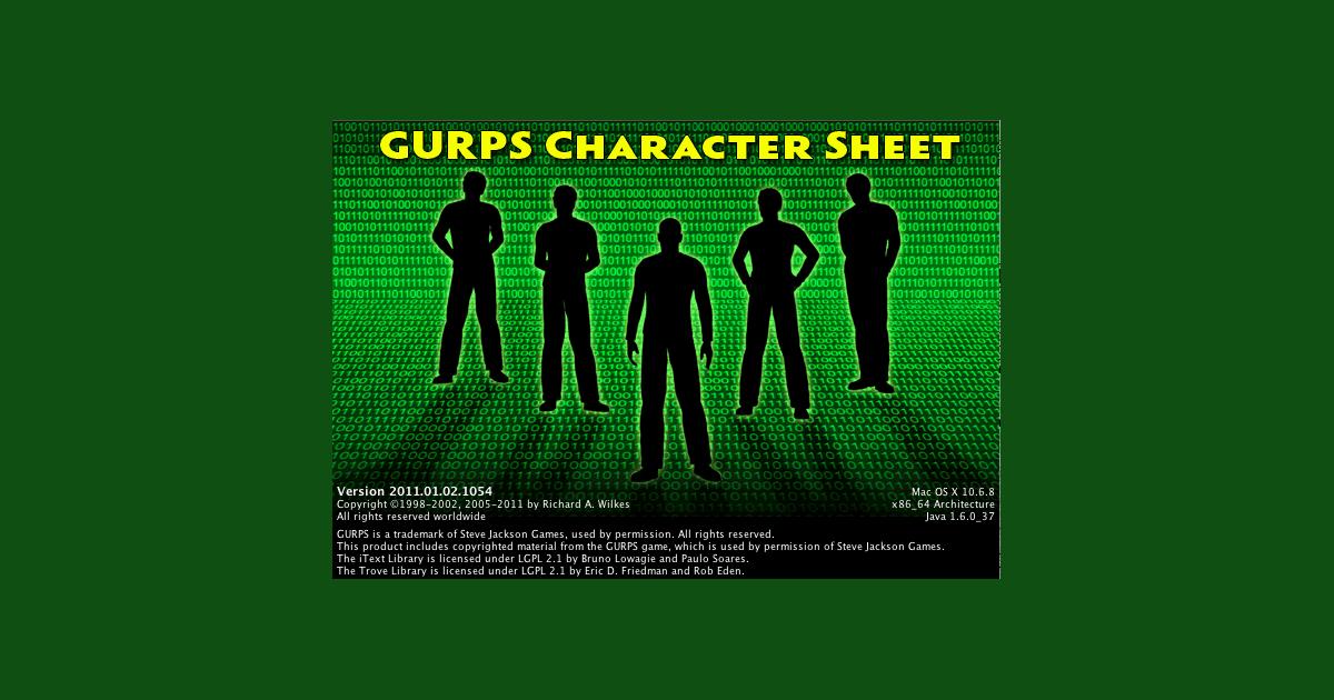 Best free character generator I've seen | GURPS Character Sheet