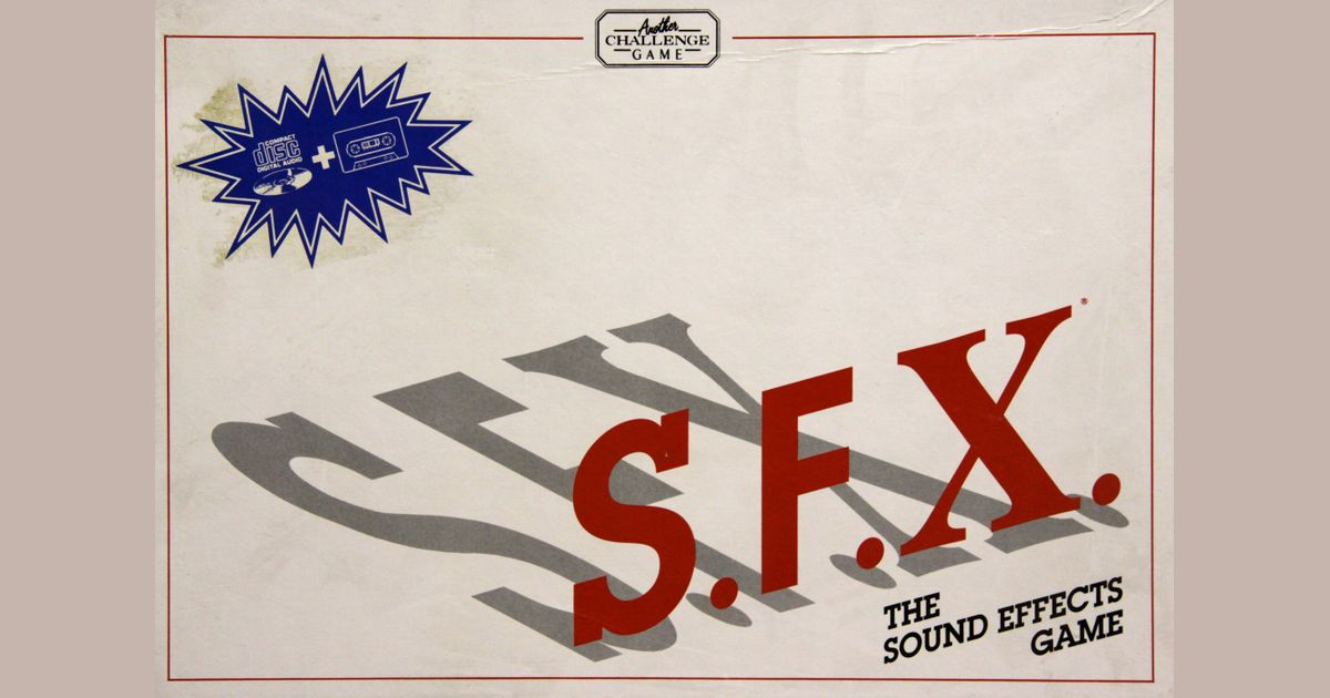 S F X : The Sound Effects Game | Board Game | BoardGameGeek