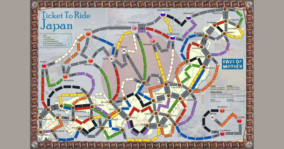 Japan (fan expansion to Ticket To Ride) | Board Game | BoardGameGeek