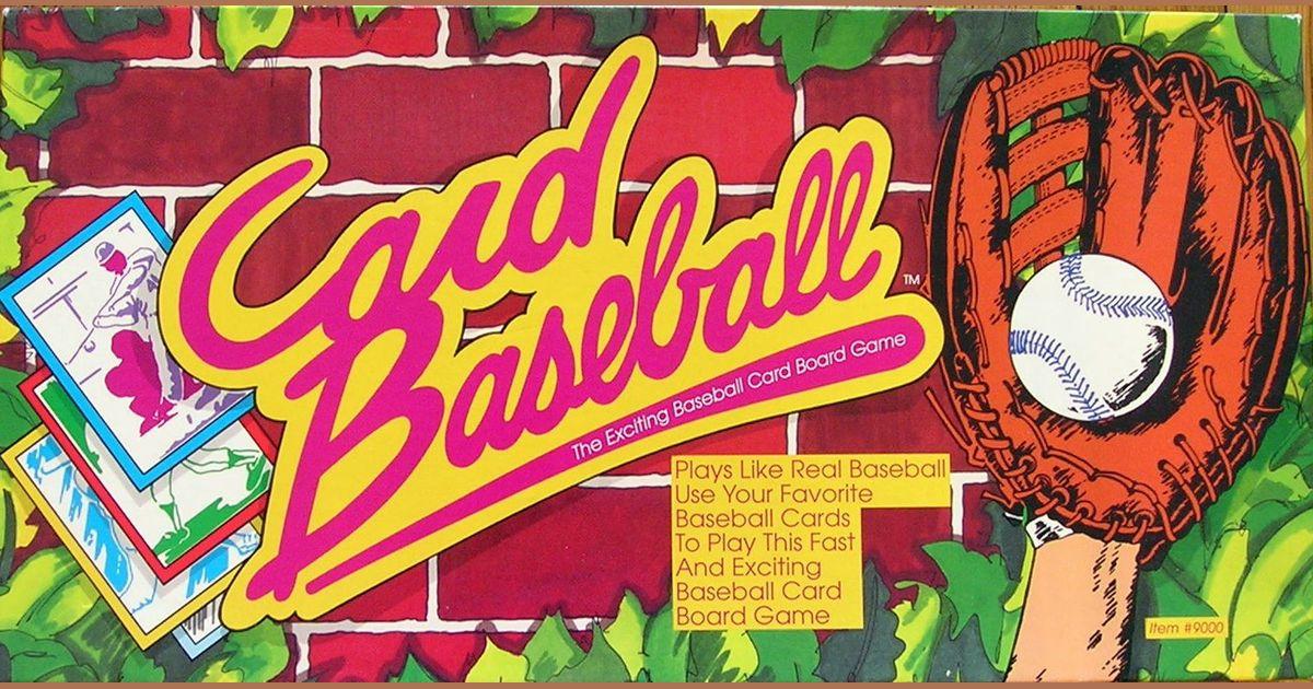 Card Baseball The Exciting Baseball Card Board Game Board Game