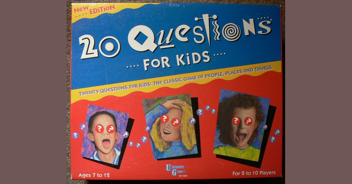 20 Questions for Kids | Board Game | BoardGameGeek