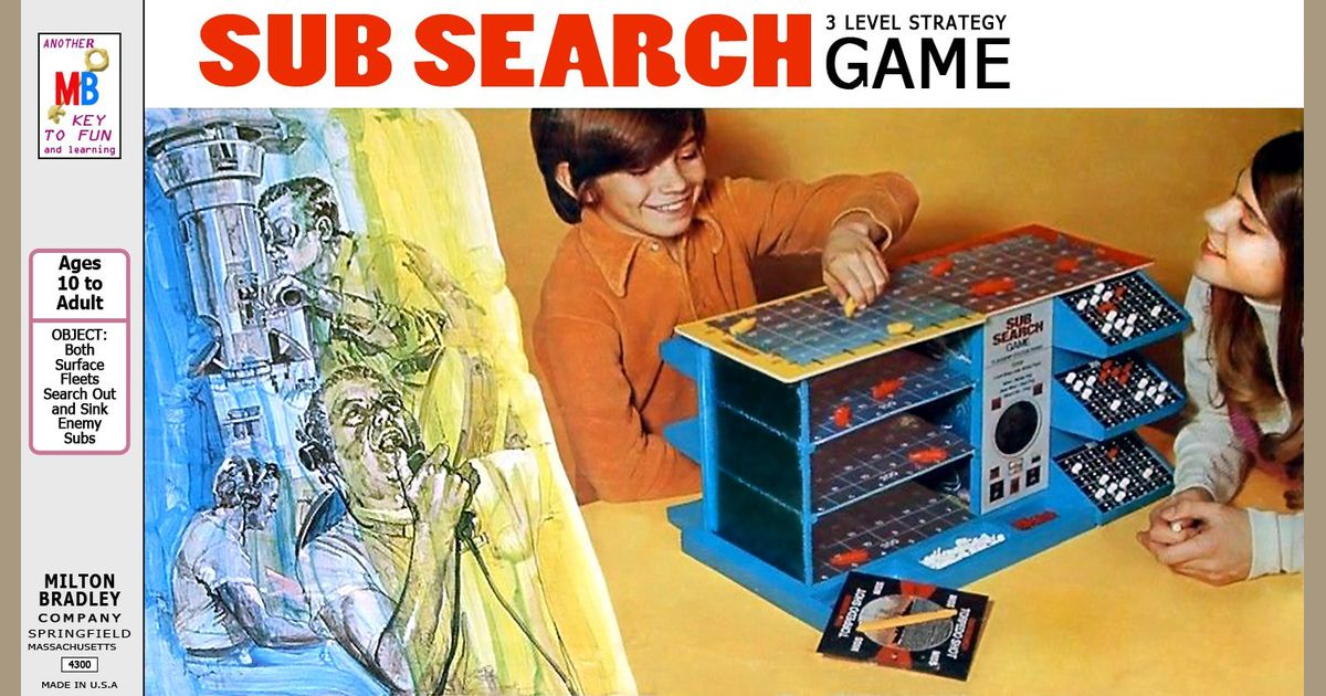 Vintage Sub Search 3 Level Strategy Game 1973