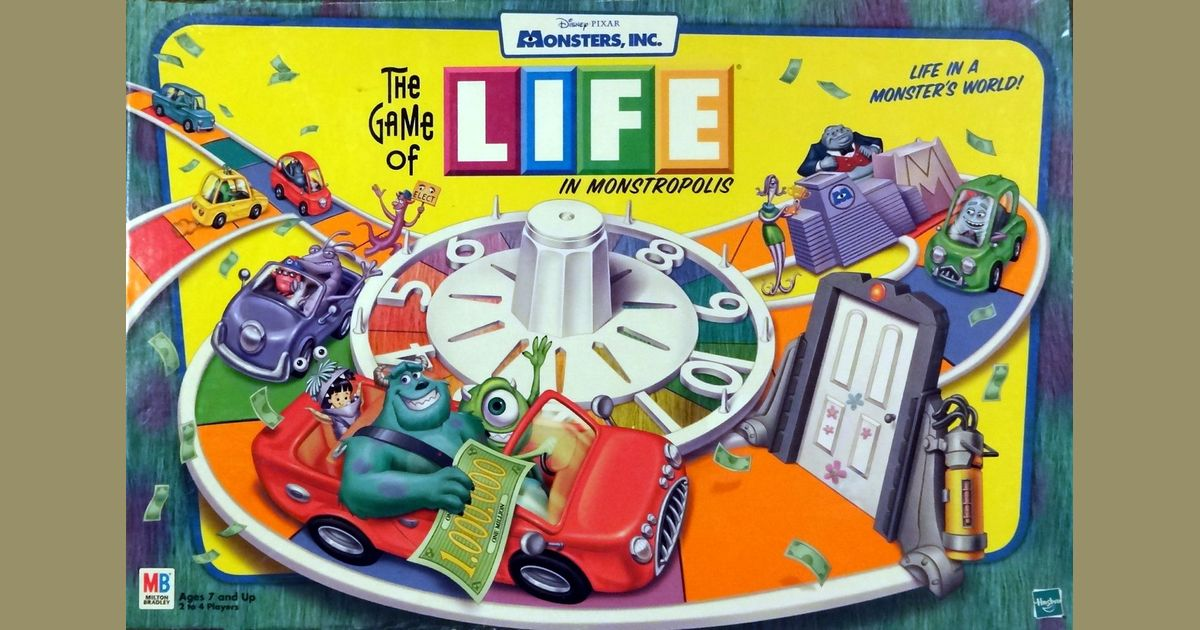 The Game Of Life In Monstropolis Board Game Boardgamegeek