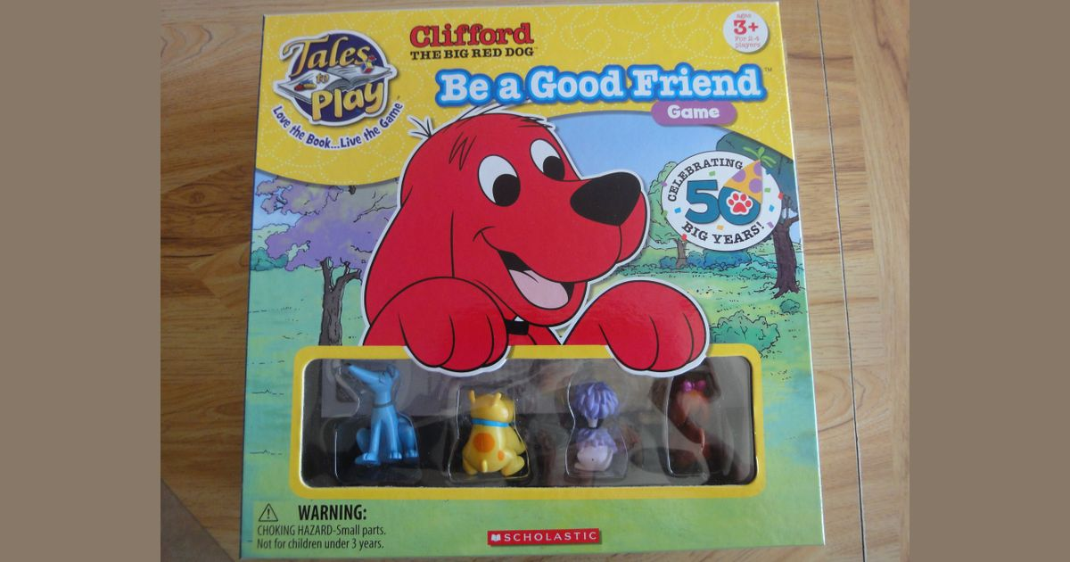 Awesome Clifford The Big Red Dog Be A Good Friend Game Board Game Machost Co Dining Chair Design Ideas Machostcouk