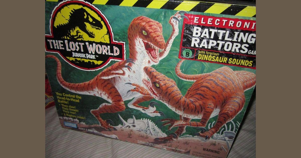 Jurassic Park Electronic Battling Raptors Game | Board Game