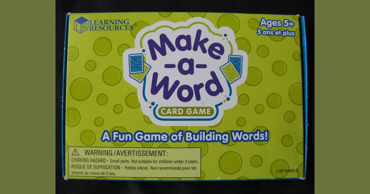 Make-a-Word Card Game | Board Game | BoardGameGeek
