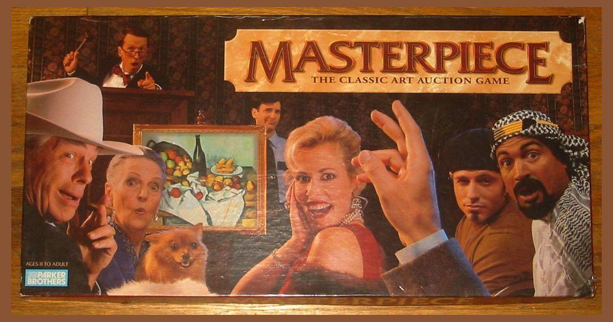 Masterpiece Art Auction Board Game Replacement Parts /& Pieces 1996 Parker Bros
