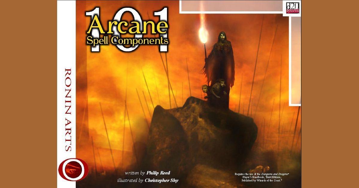 101 Arcane Spell Components | RPG Item | RPGGeek