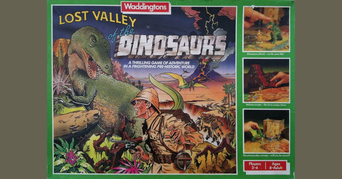 Lost Valley of the Dinosaurs   Board Game   BoardGameGeek