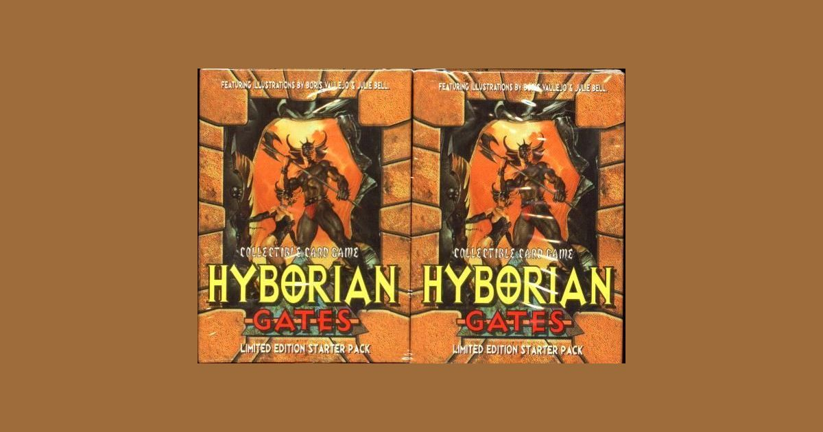 hyborian gates 5 starter decks and 30 booster packs 1995 by cardz free shipping