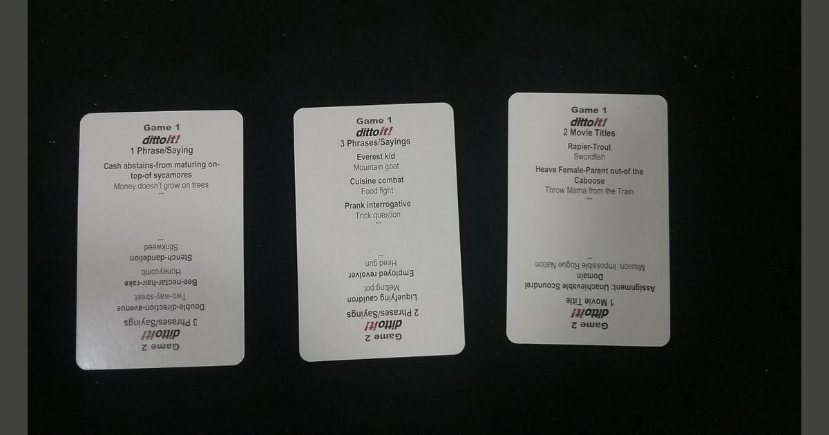 dittoit! | Board Game | BoardGameGeek