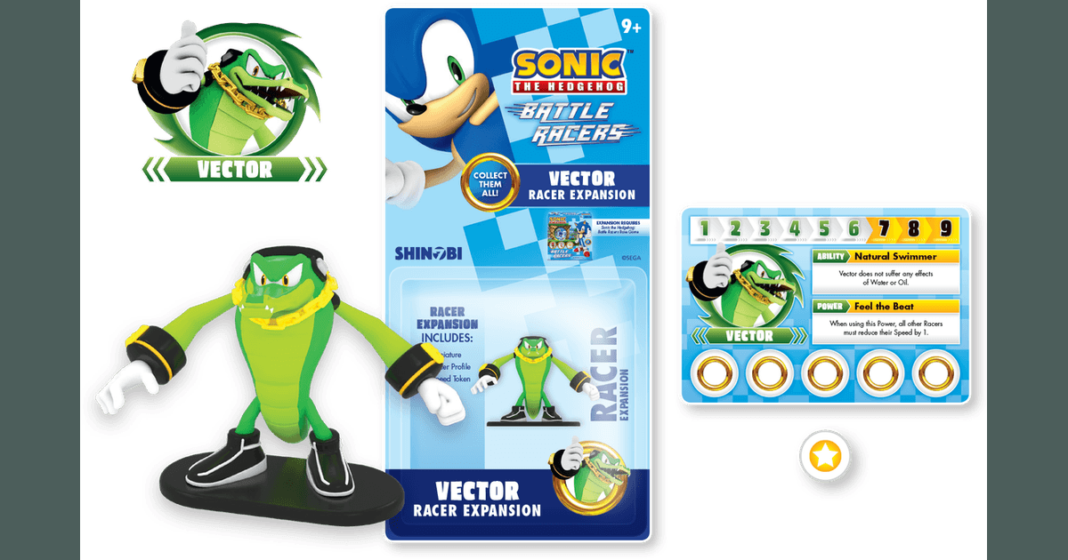 Sonic The Hedgehog Battle Racers Vector Racer Expansion Board Game Boardgamegeek