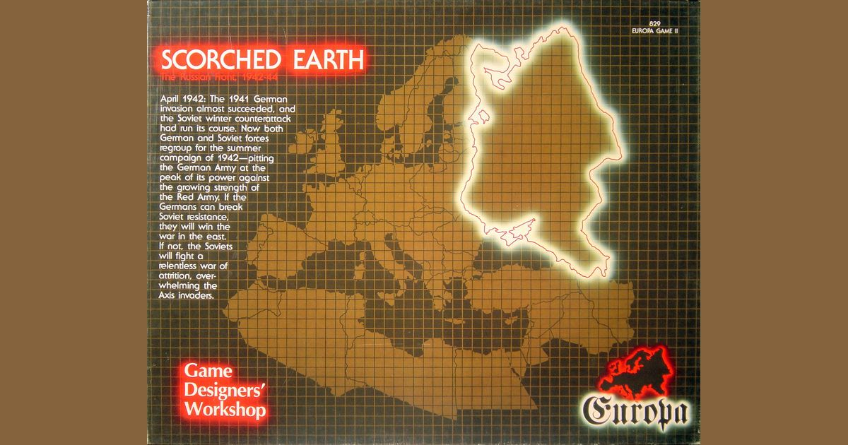 Scorched Earth | Board Game | BoardGameGeek