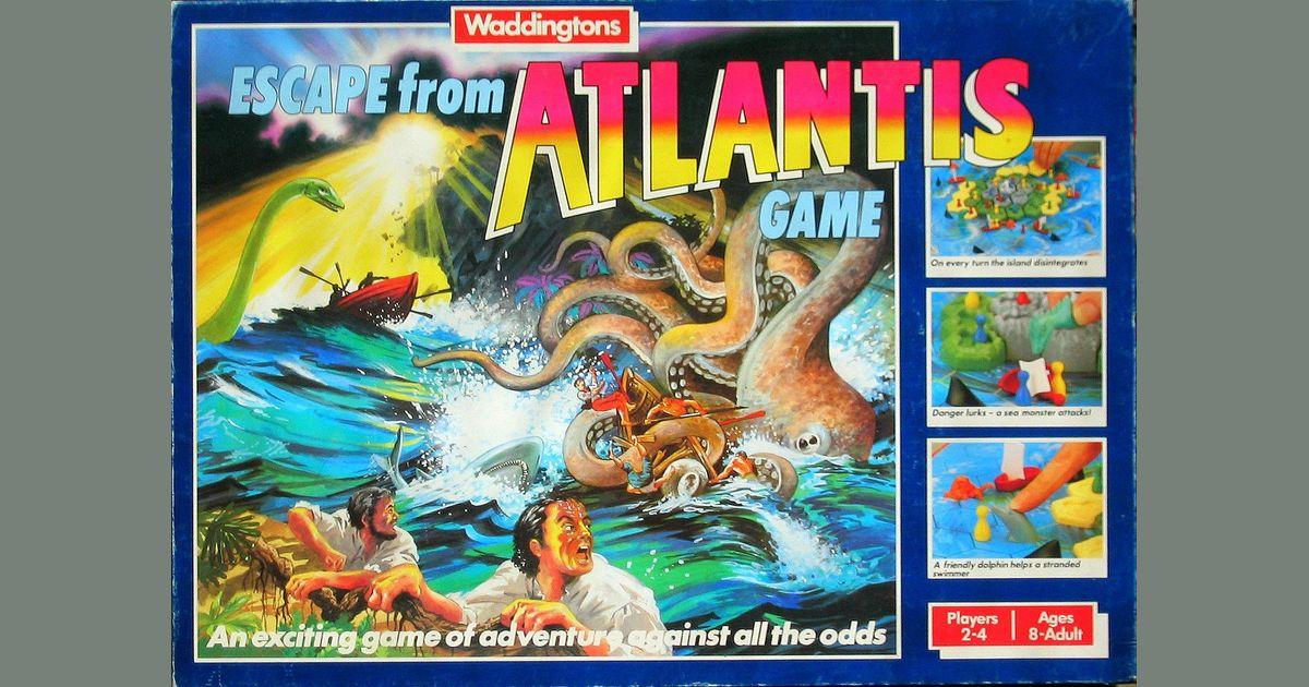 ESCAPE FROM ATLANTIS BOARD GAME SPARE PARTS WADDINGTONS PIECES