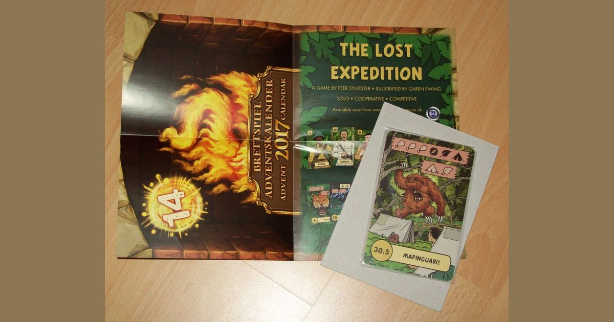 Weihnachtskalender Wiki.The Lost Expedition The Creature Promo Board Game Boardgamegeek