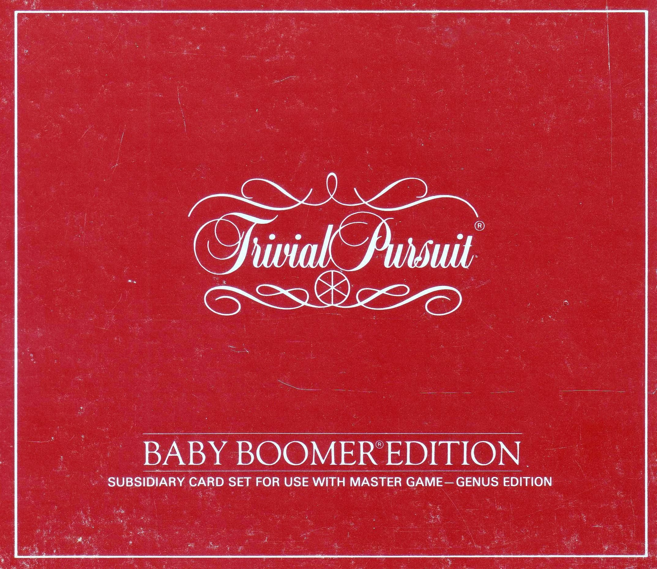 Trivial Pursuit: Baby Boomer Card Set