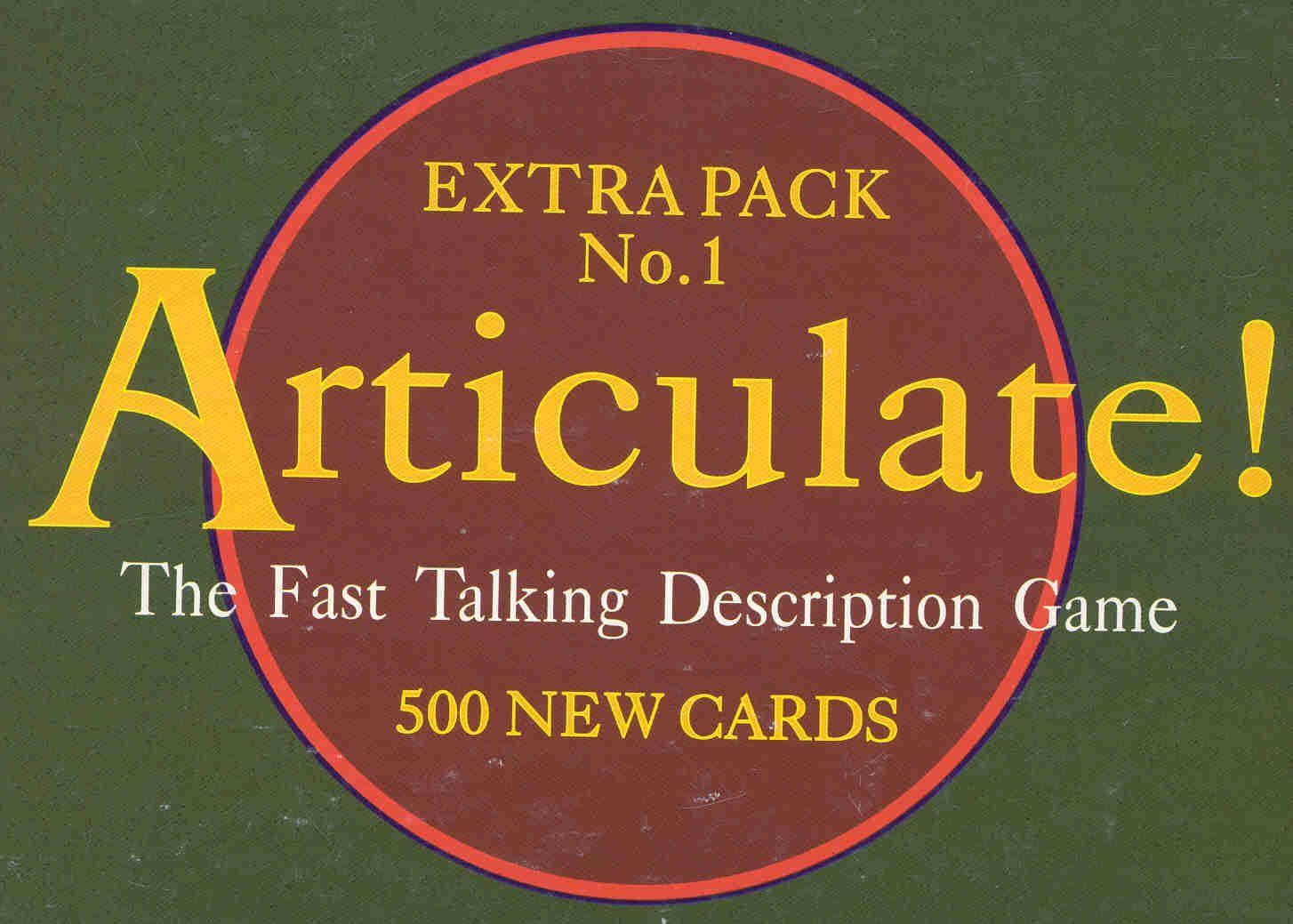 Articulate Extra Pack No. 1