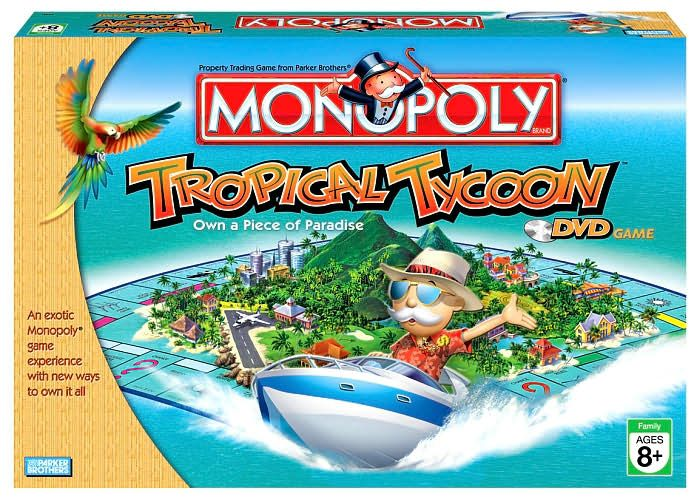 Monopoly: Tropical Tycoon DVD Game