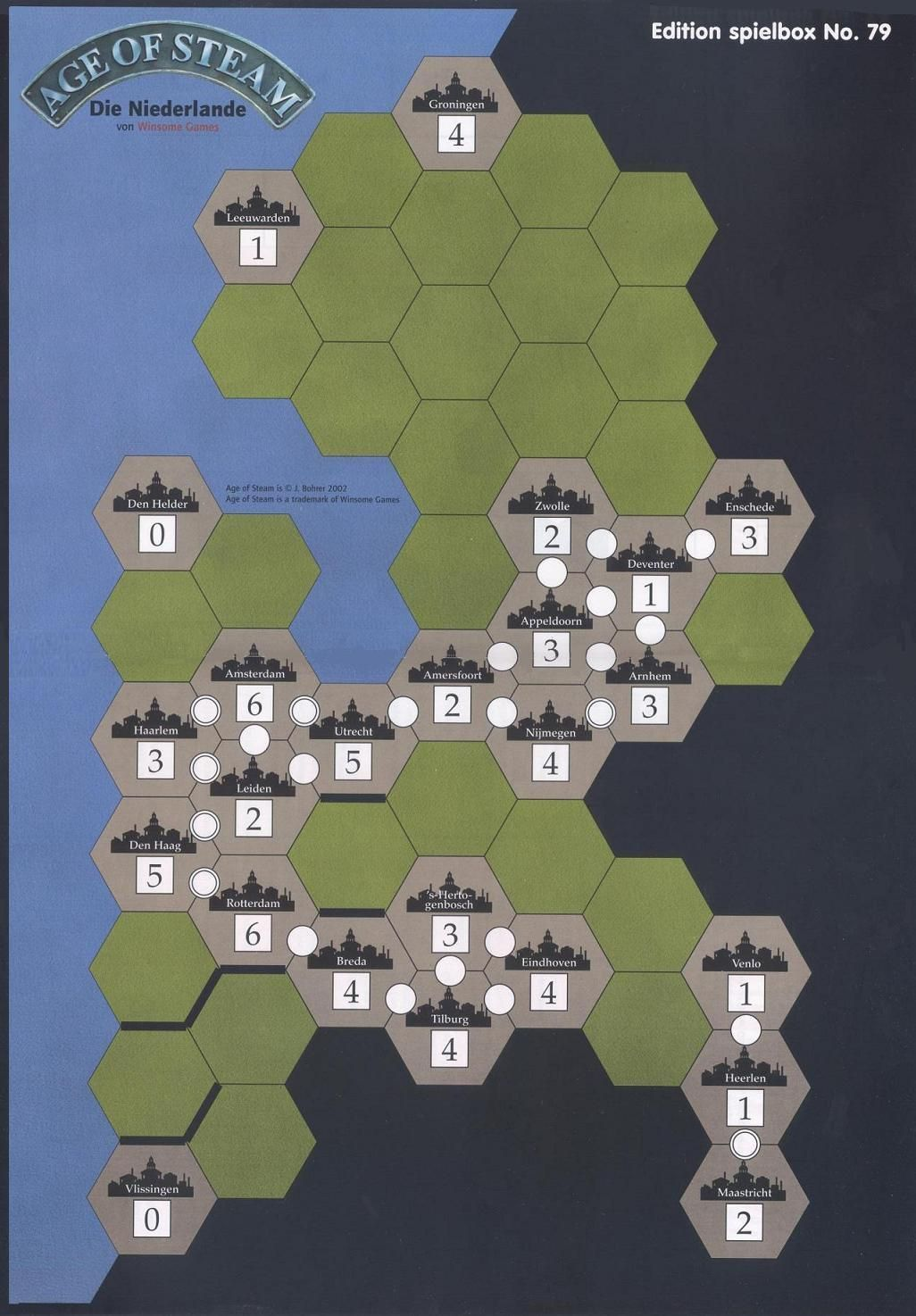 Age of Steam Expansion: The Netherlands
