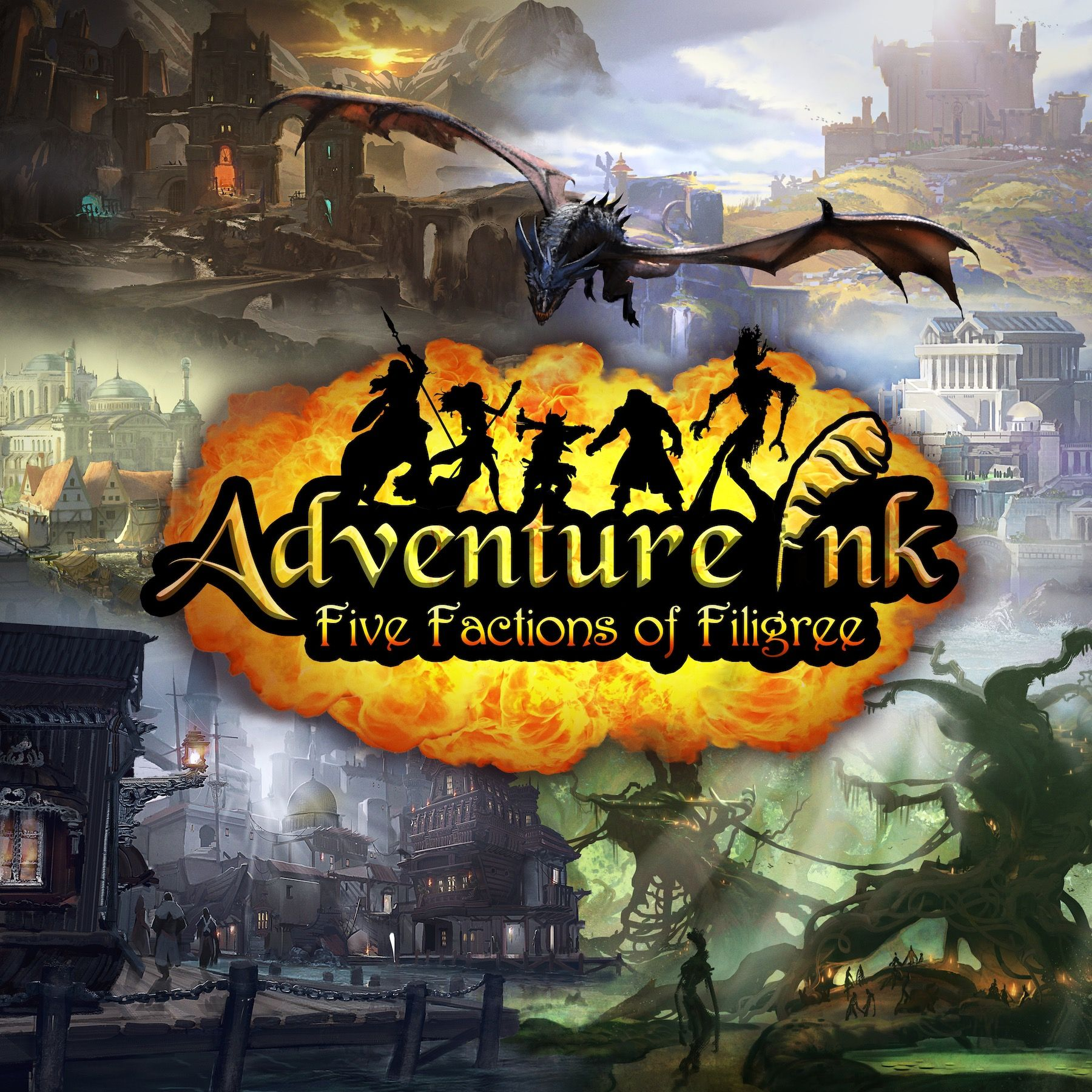 Main image for Adventure Ink: Five Factions of Filigree board game