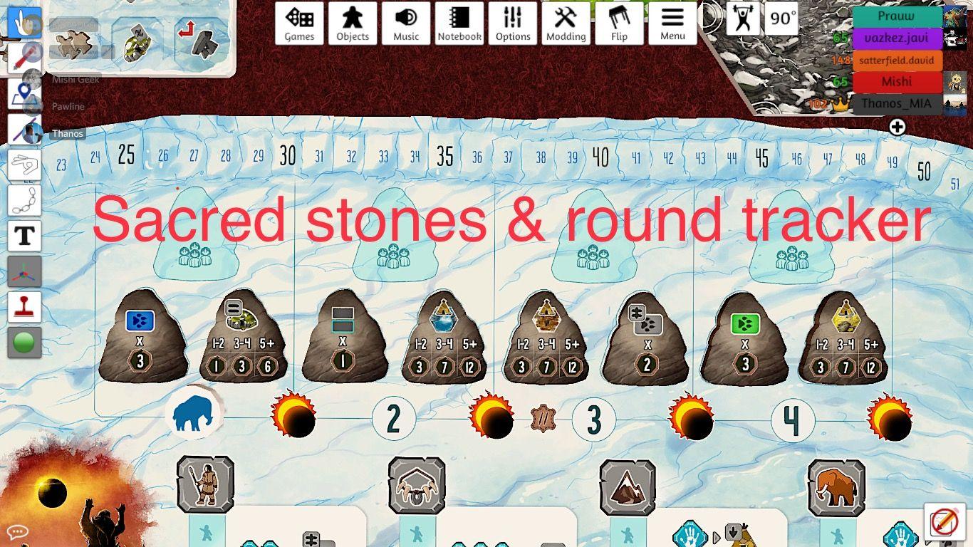 Les pierres Sacrées du prototype TTS