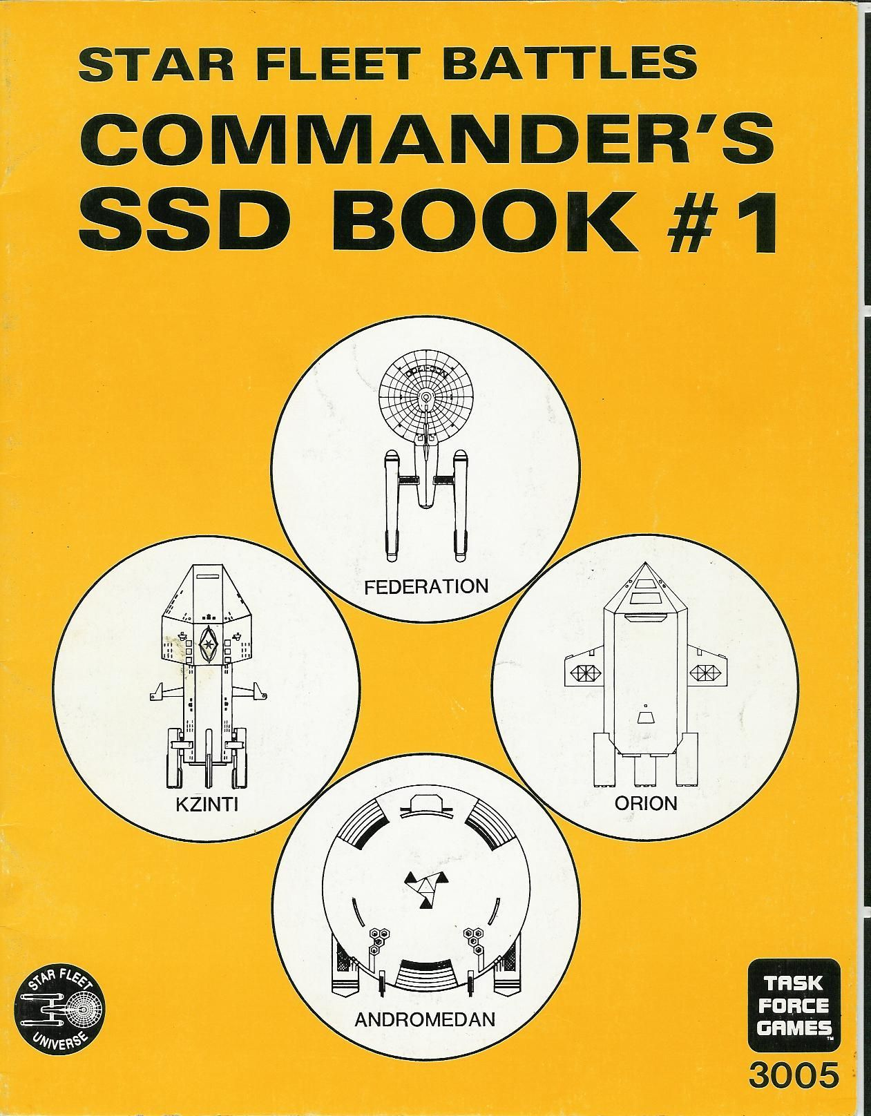 Star Fleet Battles: Commanders SSD Book #1