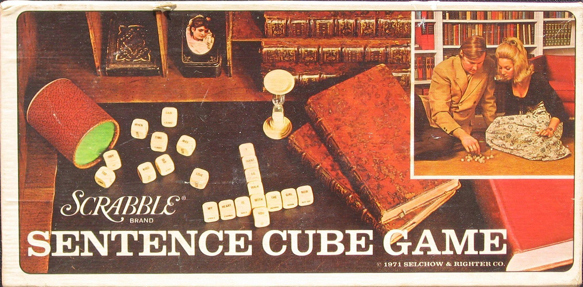 Scrabble Sentence Cube Game