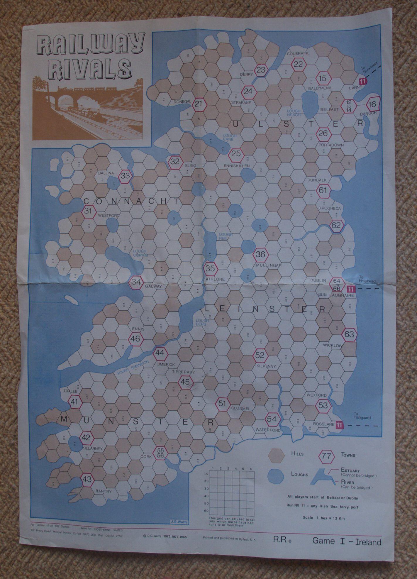 Railway Rivals Map I: Ireland