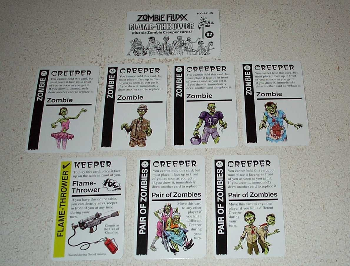 Zombie Fluxx: Flame-Thrower Expansion Pack