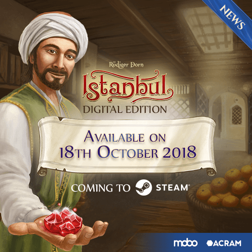 Istanbul: Digital Edition available for purchase on Steam on October
