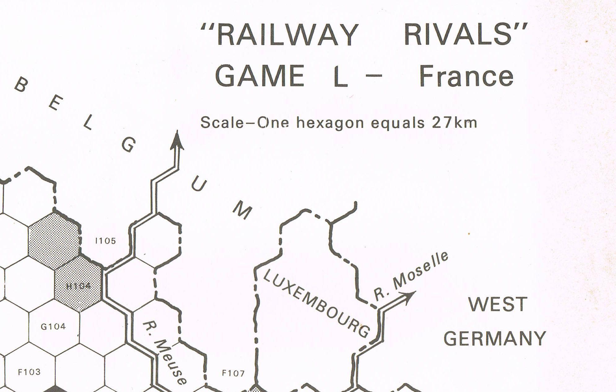 Railway Rivals Map L: France