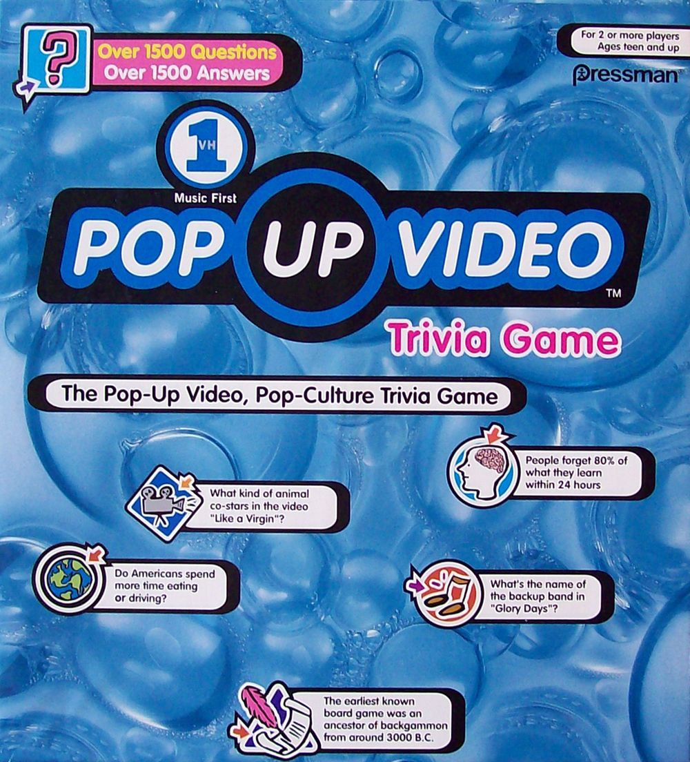 VH1 Pop Up Video Game