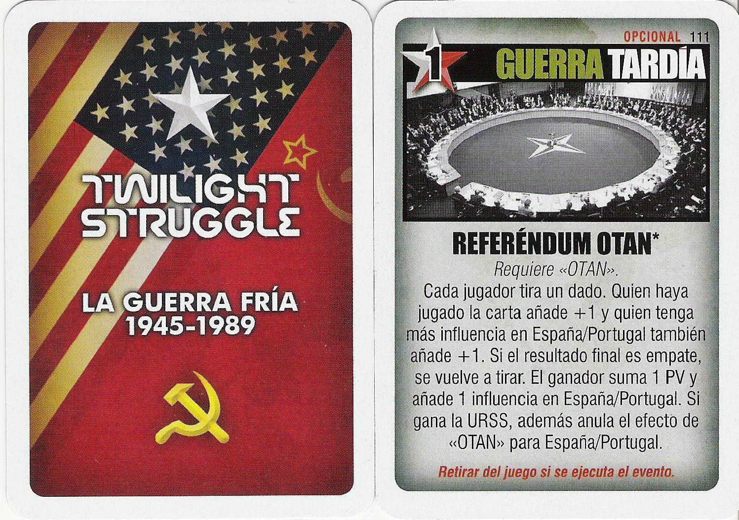"Twilight Struggle: ""Referendum NATO"" Promo Card"