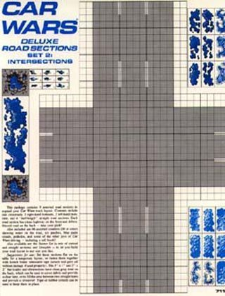 Car Wars Deluxe Road Sections Set 2: Intersections