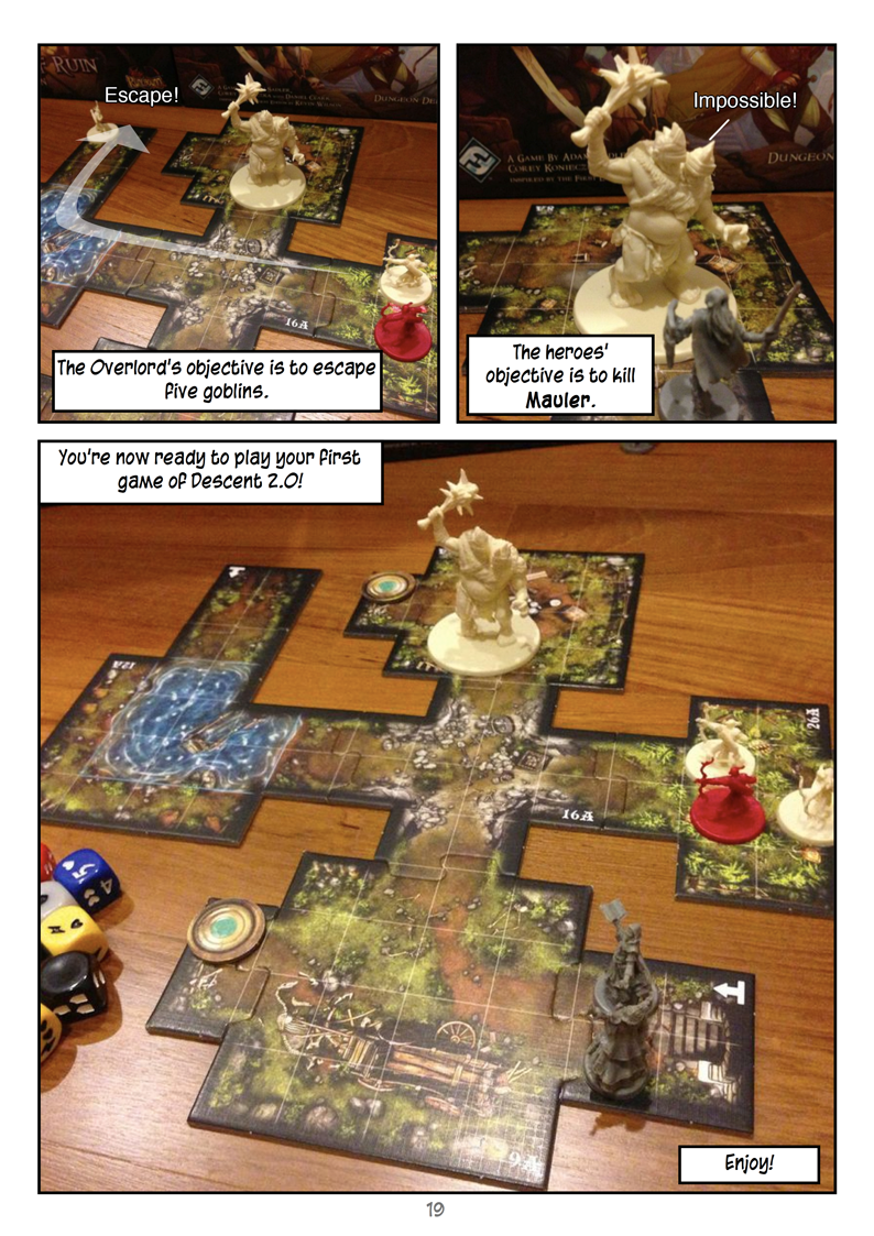 Heroes Quickstart Guide to Descent 2 0 (comic-style