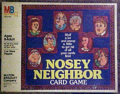 Nosey Neighbor Card Game