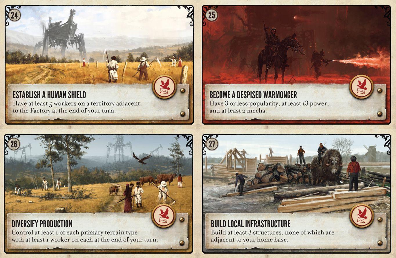 Scythe: Promo Pack #3 – Objective Cards 24-27