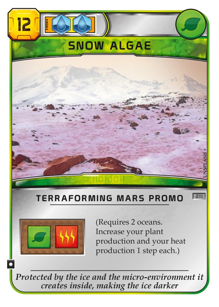 Покорение Марса: Криофильные водоросли промо-карта
