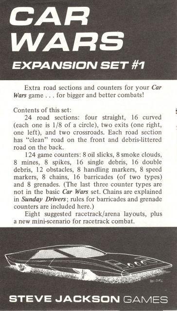 Car Wars Expansion Set #1