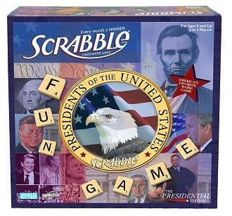 Presidential Scrabble Democrats vs. Republicans Board Game