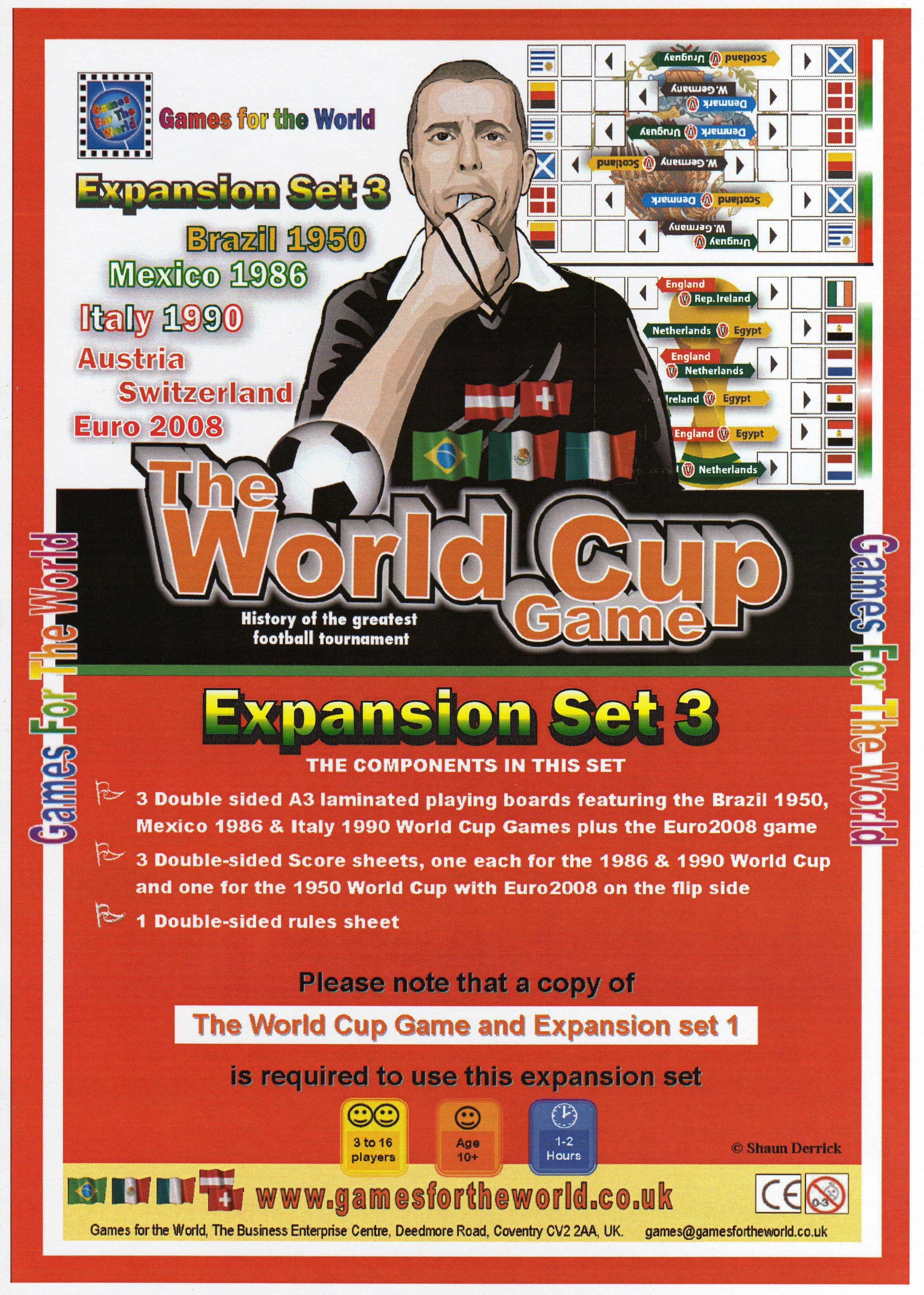 The World Cup Game:  Expansion Set 3