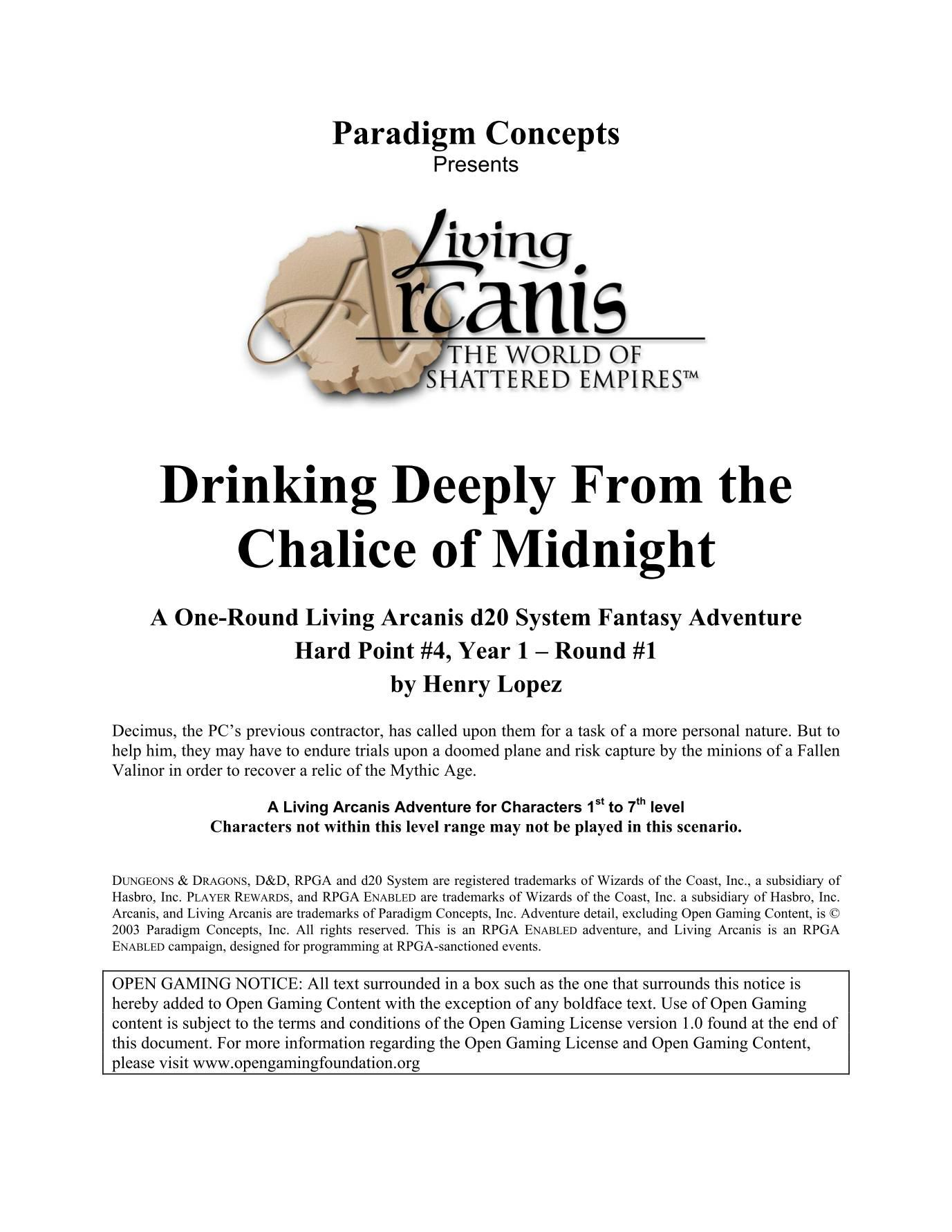 LA-HP1-04: Drinking Deeply From the Chalice of Midnight | Image