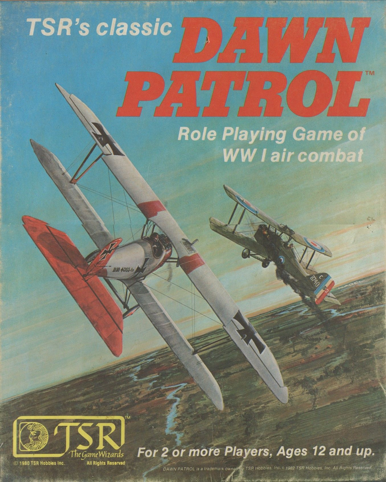 Dawn Patrol: Role Playing Game of WW I Air Combat