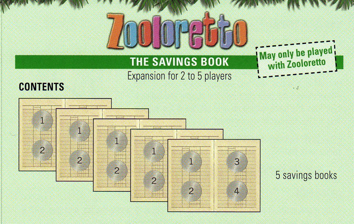 Zooloretto: The Savings Book