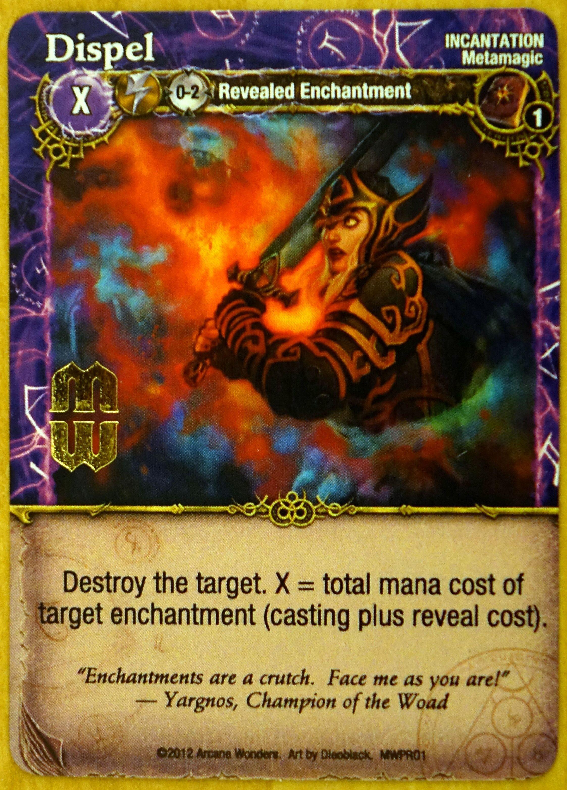 Mage Wars: Dispel Promo Card