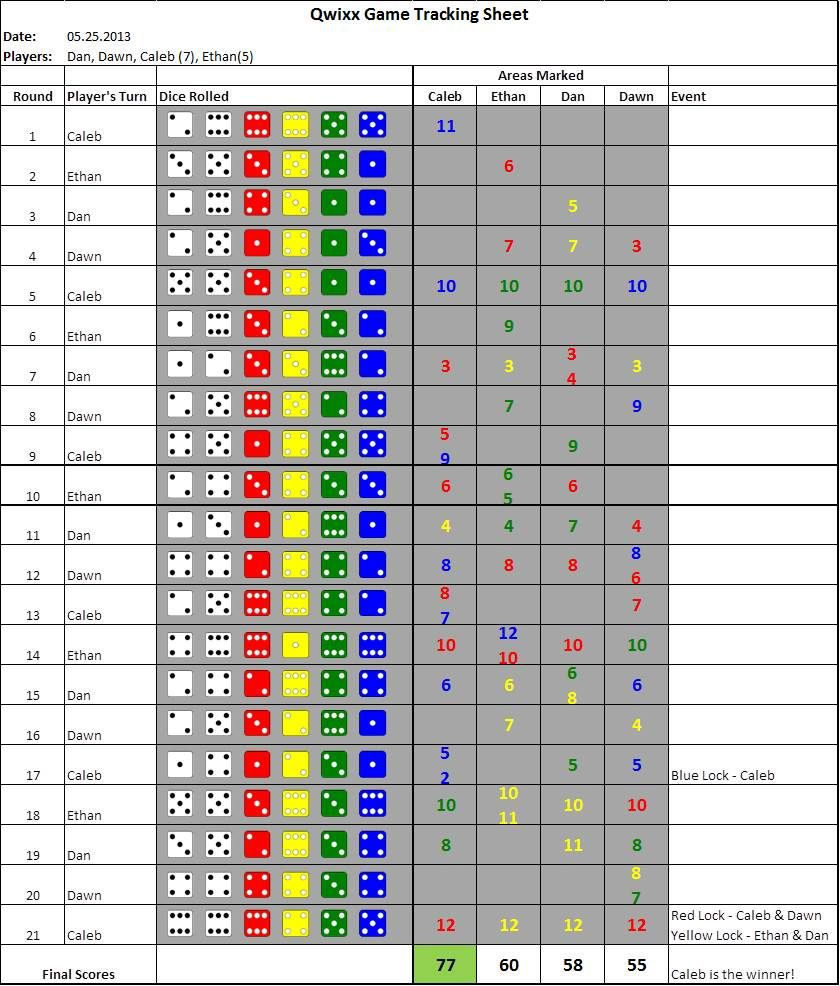 Red + Yellow + Green + Blue = Light Fun | Qwixx | BoardGameGeek