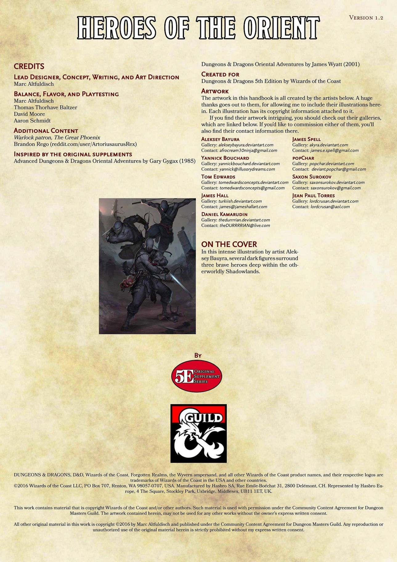 Heroes of the Orient: Player's and DM's Companion   Image