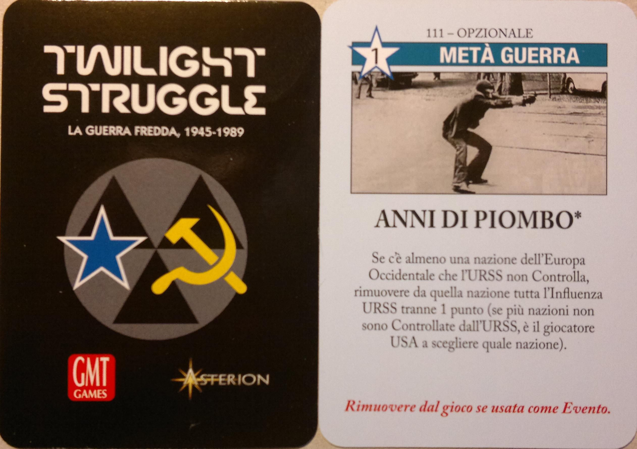 "Twilight Struggle: ""Anni di Piombo"" Promo Card"