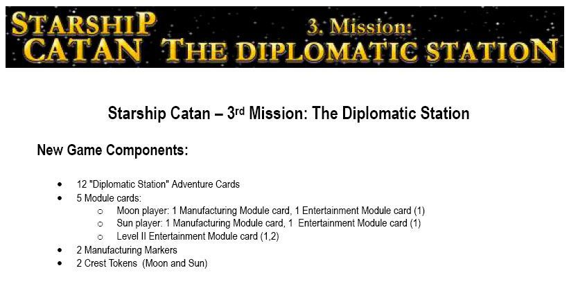 Starship Catan: 3. Mission – The Diplomatic Station