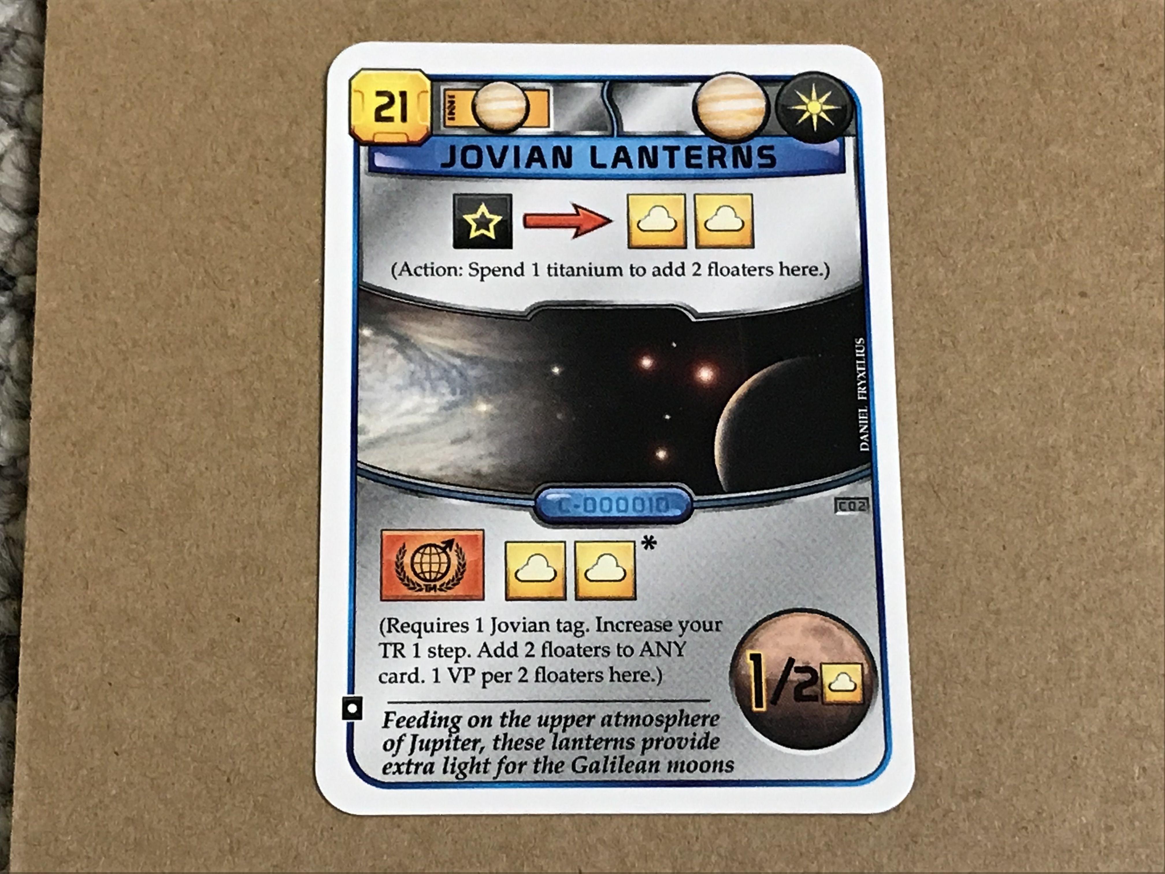 Terraforming Mars: Jovian Lanterns Promo Card